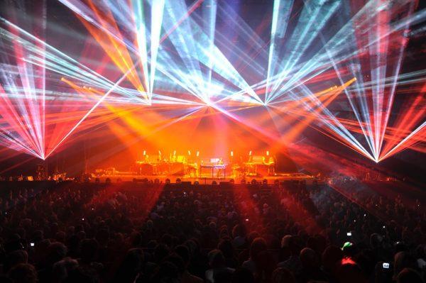 JMJ Laser Show, photo by Christine Ferreira