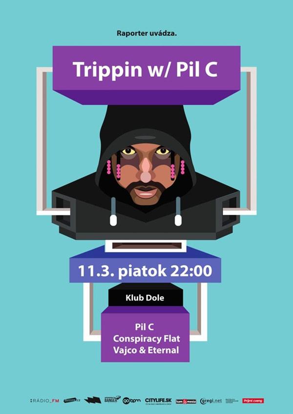 PLAGAT_Trippin_marec 201 6