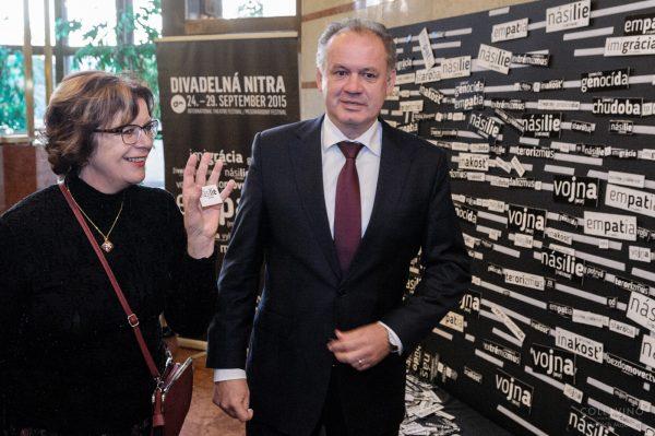 Prezident SR Andrej Kiska a riaditelka DN Darina Karova_foto Collavino