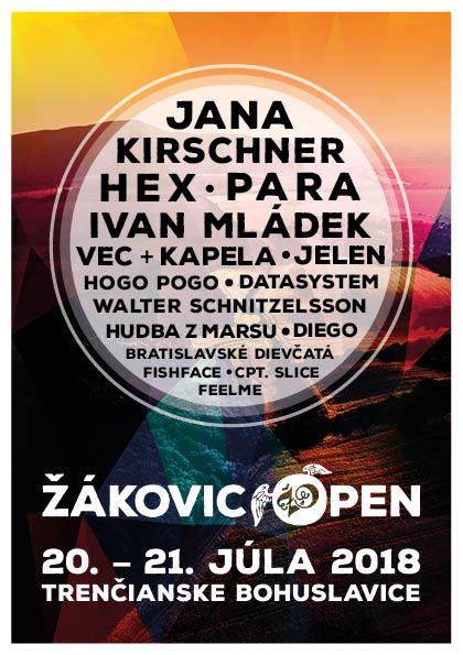 Festival Žákovic Open oslávi dospelosť, na 18-tom ročníku vystúpia Jana Kirschner, Ivan Mládek, Para a Hex!